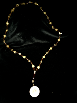 25-inch goddess necklace w/3-inch bronze pendant