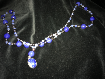 chalcedony & hematite necklace
