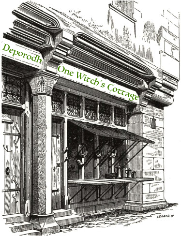 image of medieval shop front; links to Etsy shop
